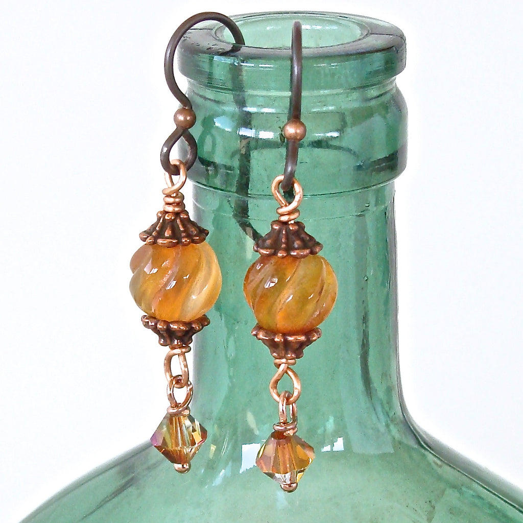 Handmade Carnelian Drop Earrings
