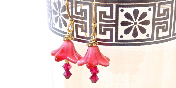 Handmade Fuchsia Earrings