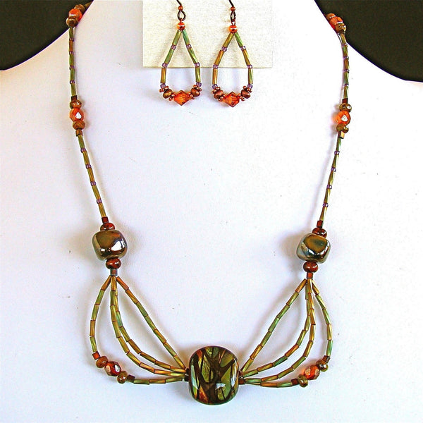 Handmade Lampwork Bead Necklace