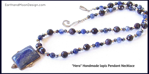 Handmade Lapis Pendant Necklace