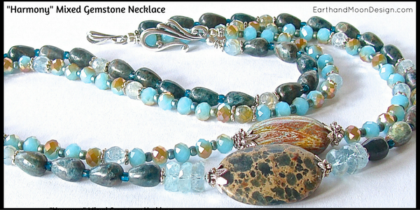 Handmade Teal Gemstone Necklace
