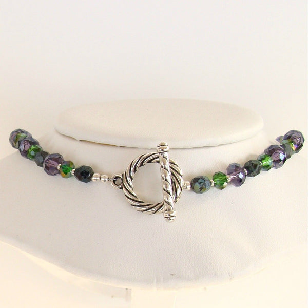 Handmade purple and green necklace