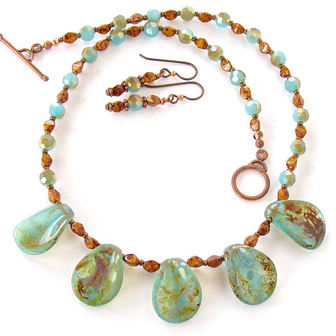Handmade earth tone jewelry