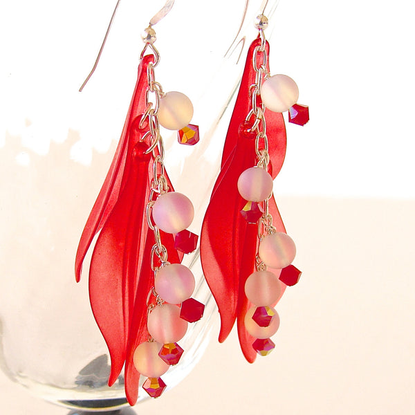 "Holly ""Whimsicals"": Red Dangle Earrings"