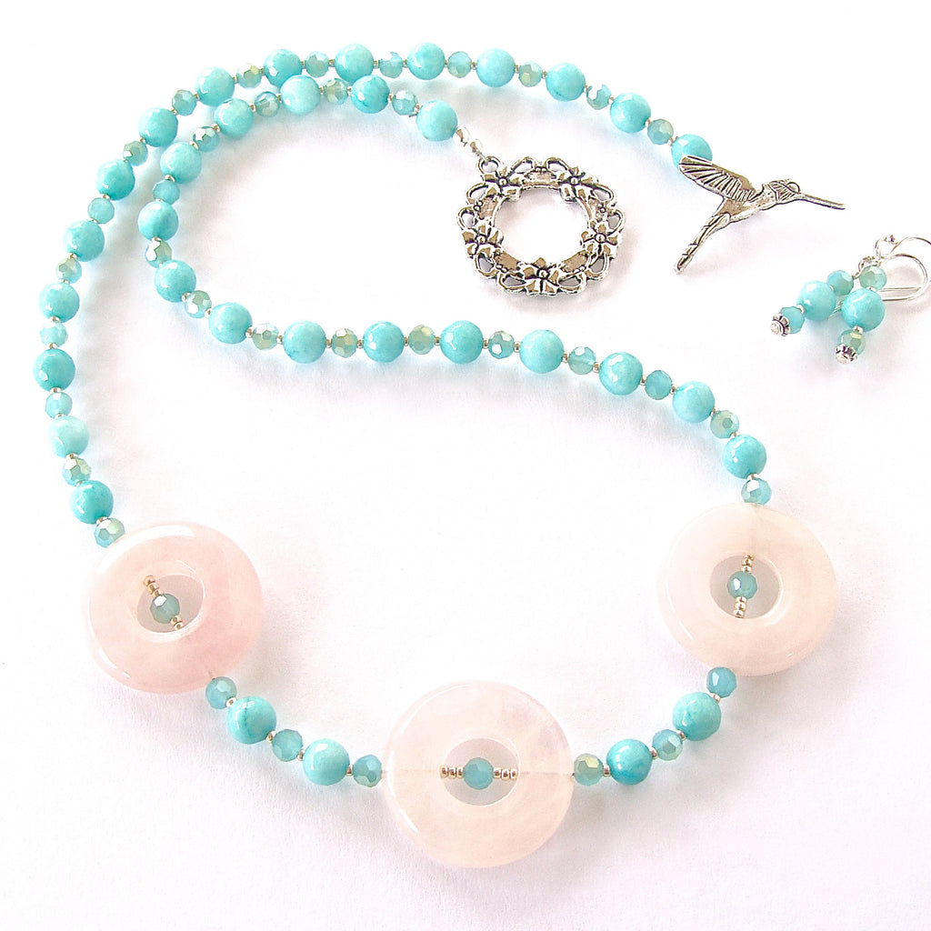 Posey: Pink and Blue Necklace Set