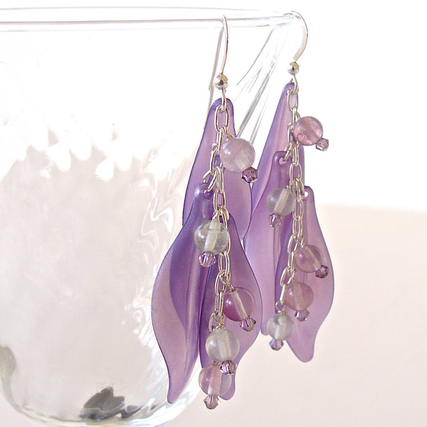 purple fluorite earrings
