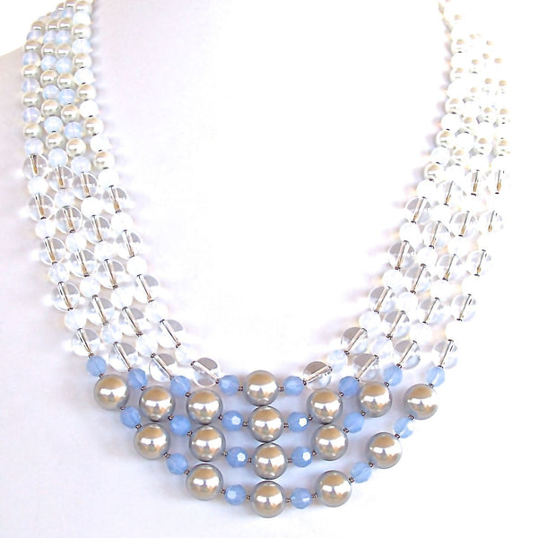 Ice Blue Statement Necklace