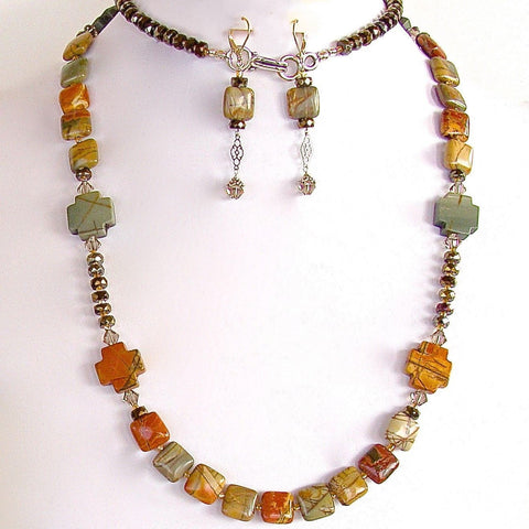 Jasper Stone necklace set
