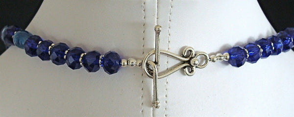 Kind of Blue: 18.5 Porcelain Bead Necklace Clasp