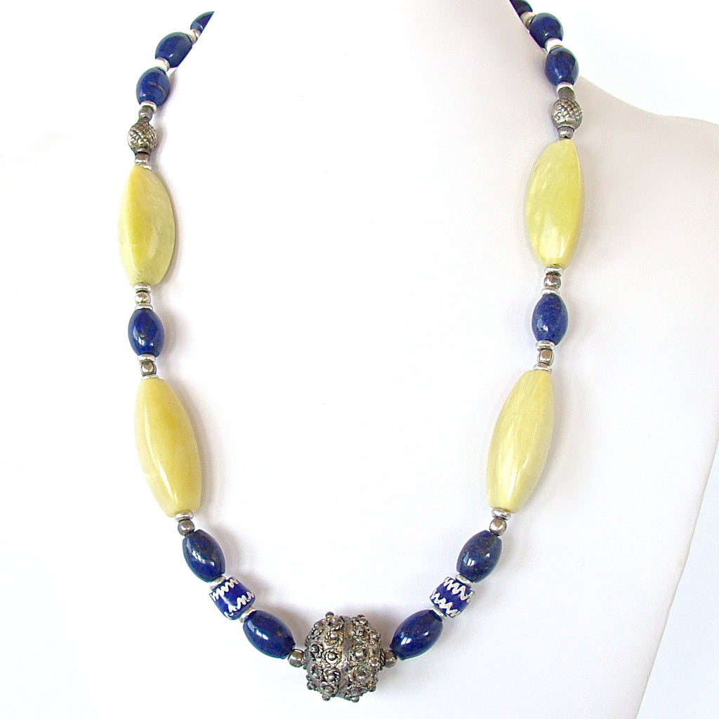 Lapis and chartreuse jewelry
