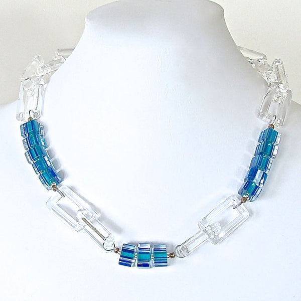 Large Clear Chain Link Necklace