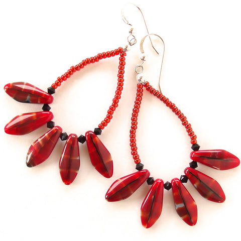 Large Red Earrings