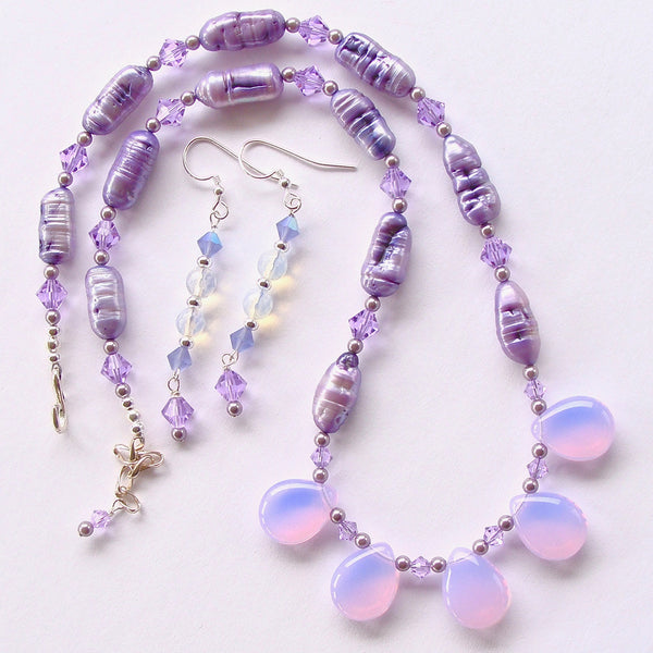 Lavender crystal necklace