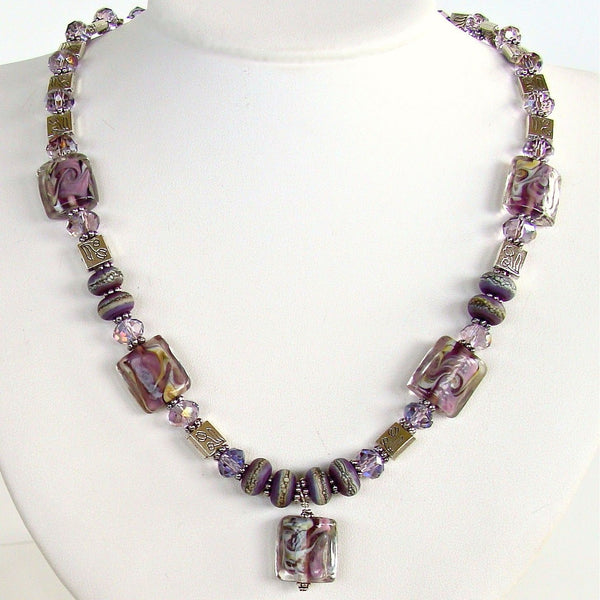Lilac Necklace Set