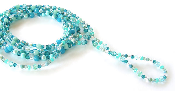 Long Aqua Necklace