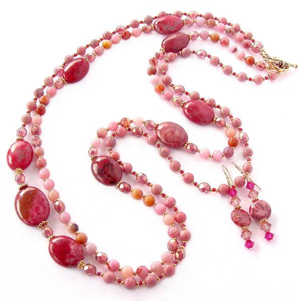 Long Pink Necklace