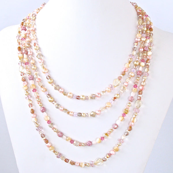 Chantilly: Pearl Rope Necklace