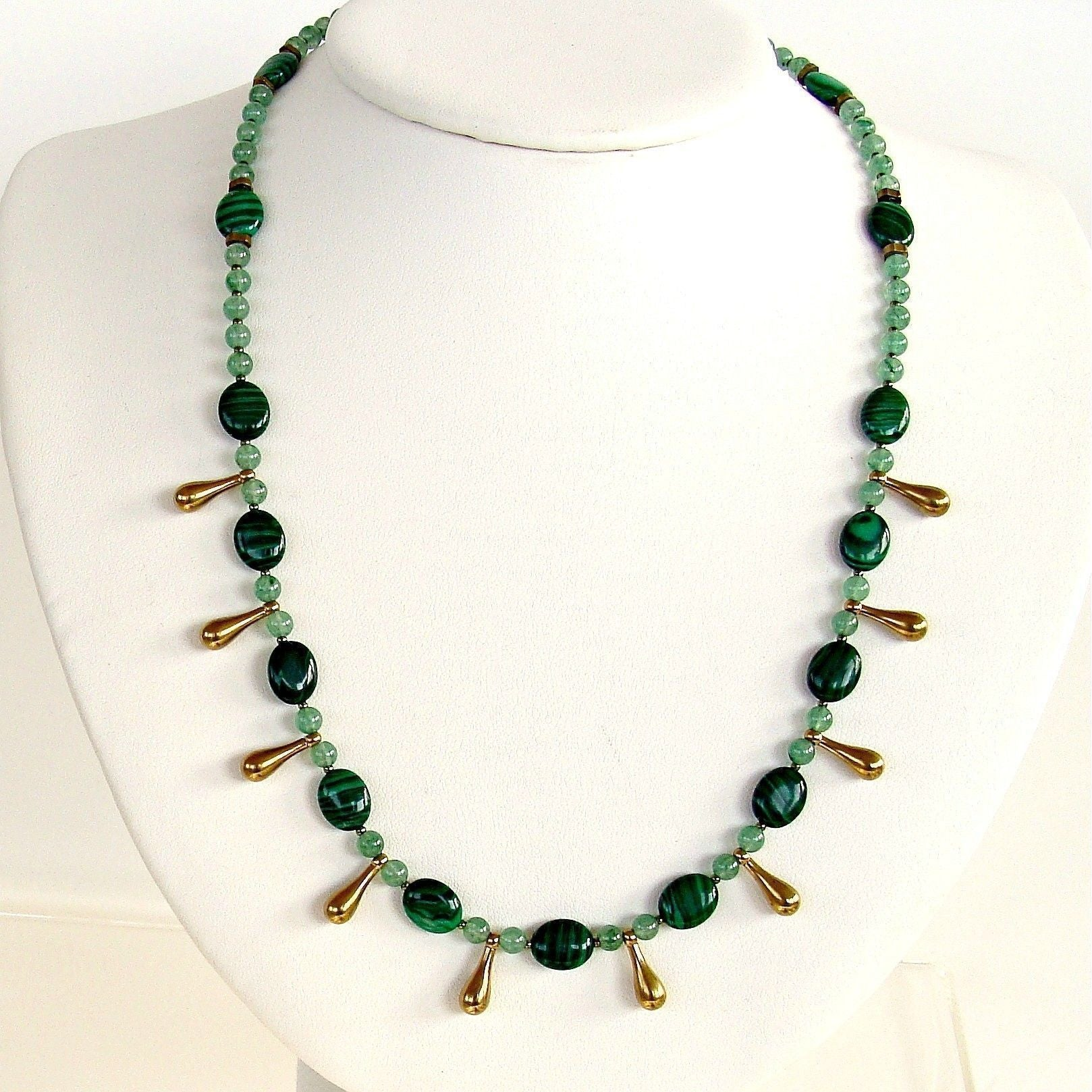 envy 19 quot malachite necklace earth and moon design