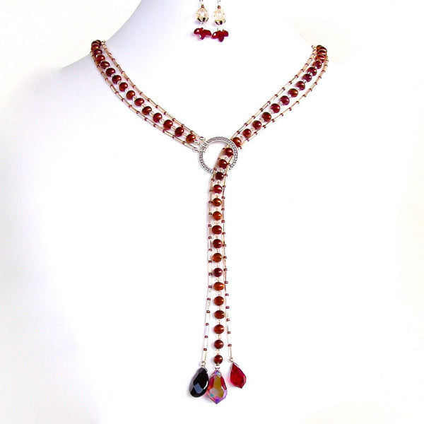 Marsala red jewelry