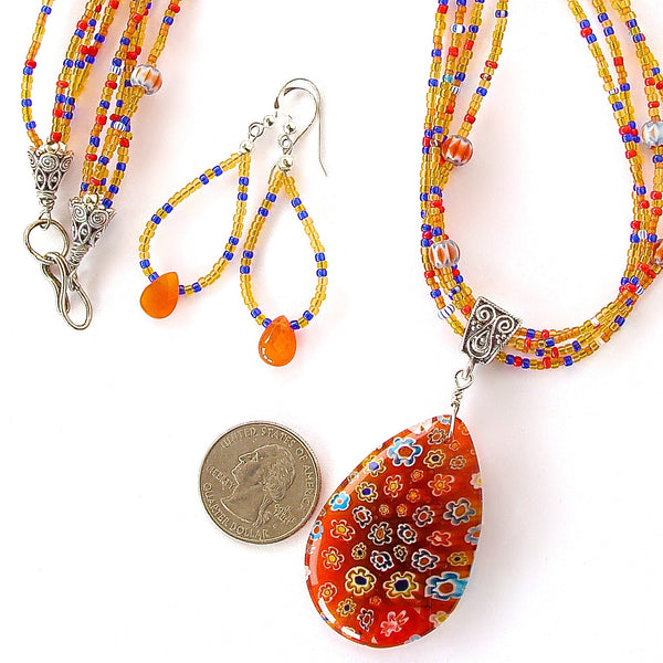 Millefiori Glass Jewelry