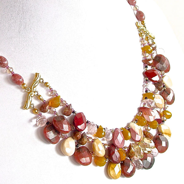 Mixed Semi-precious statement necklace