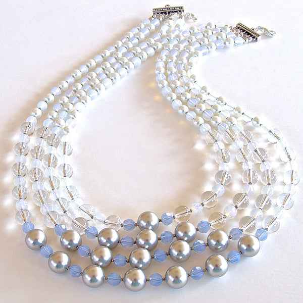 "Frost: 21"" Ice Blue Statement Necklace"