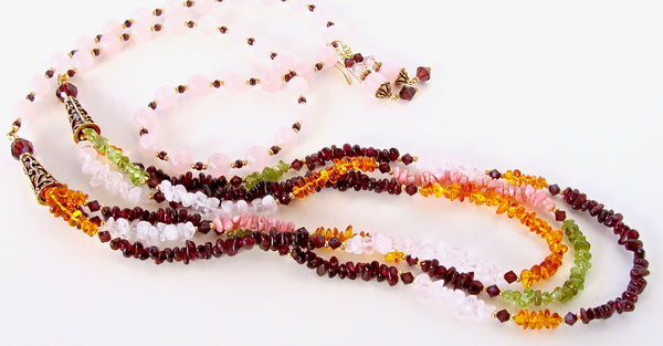 Multi Colored Gemstone Necklace