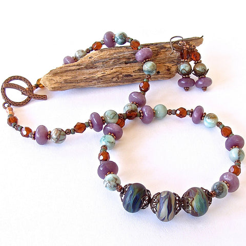 OOAK Beaded Art Glass Jewelry
