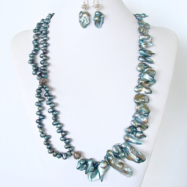 Ocean Inspired Pearl Statement Necklace