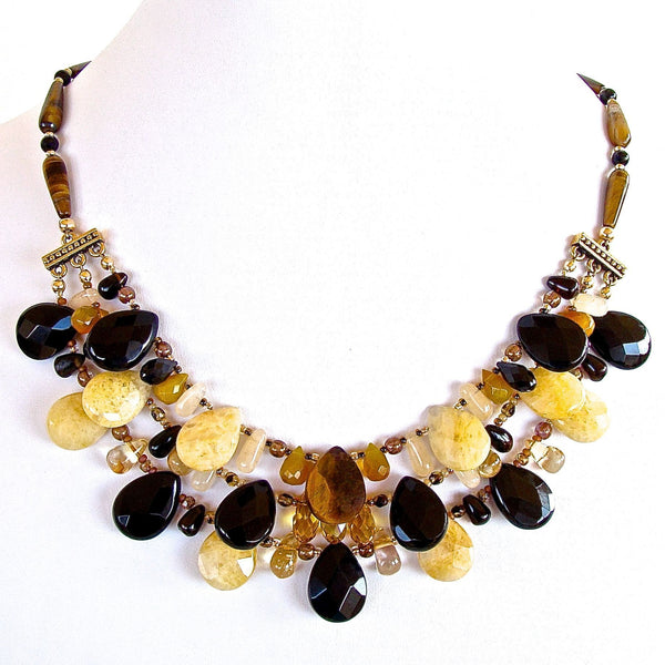 Onyx and Tigers Eye Necklace