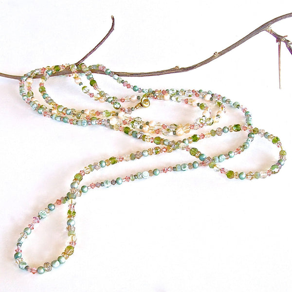 Trellis: 6' Crystal Beaded Necklace