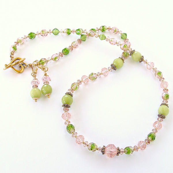 Sweet Pea: Pink and Green Jewelry