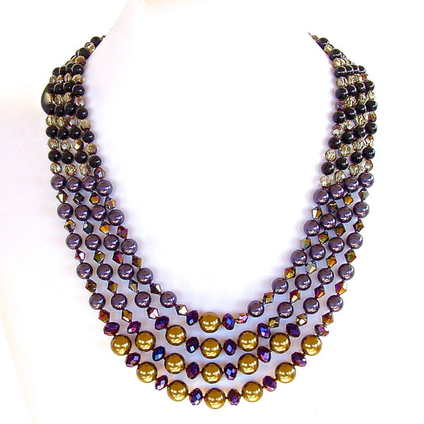 Purple Multi Strand Necklace