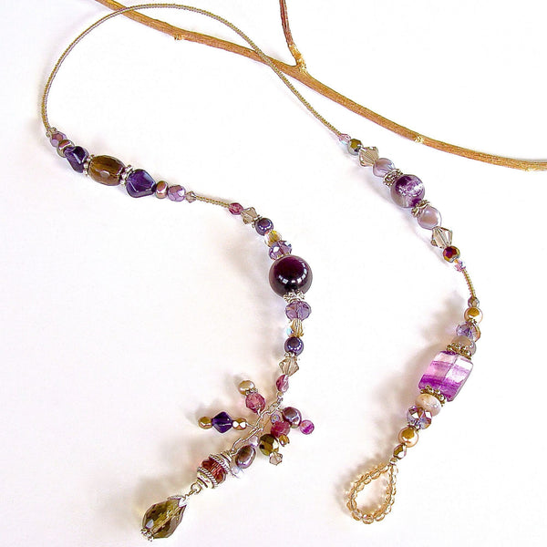 Purple Semi-precious Stone Necklace