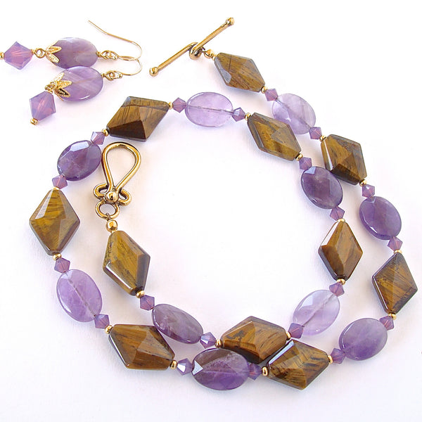Zenith: Handmade Amethyst Necklace Set