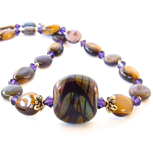 Purple Glass Necklace