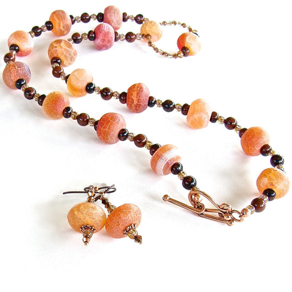 Red-Orange Necklace Set