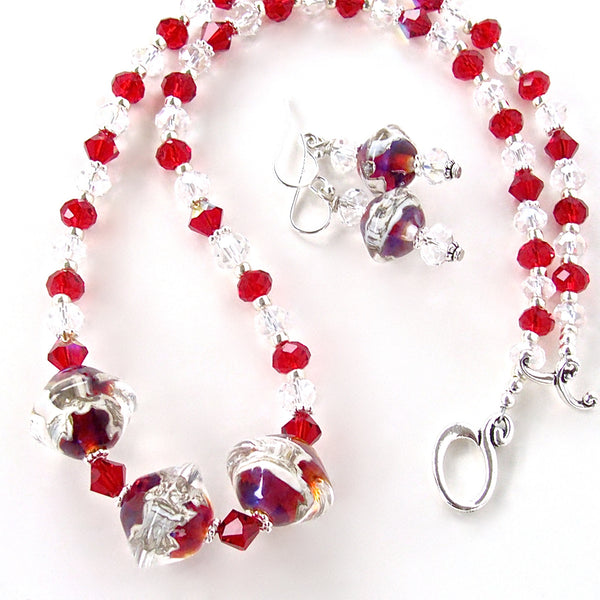 Red Crystal Jewelry