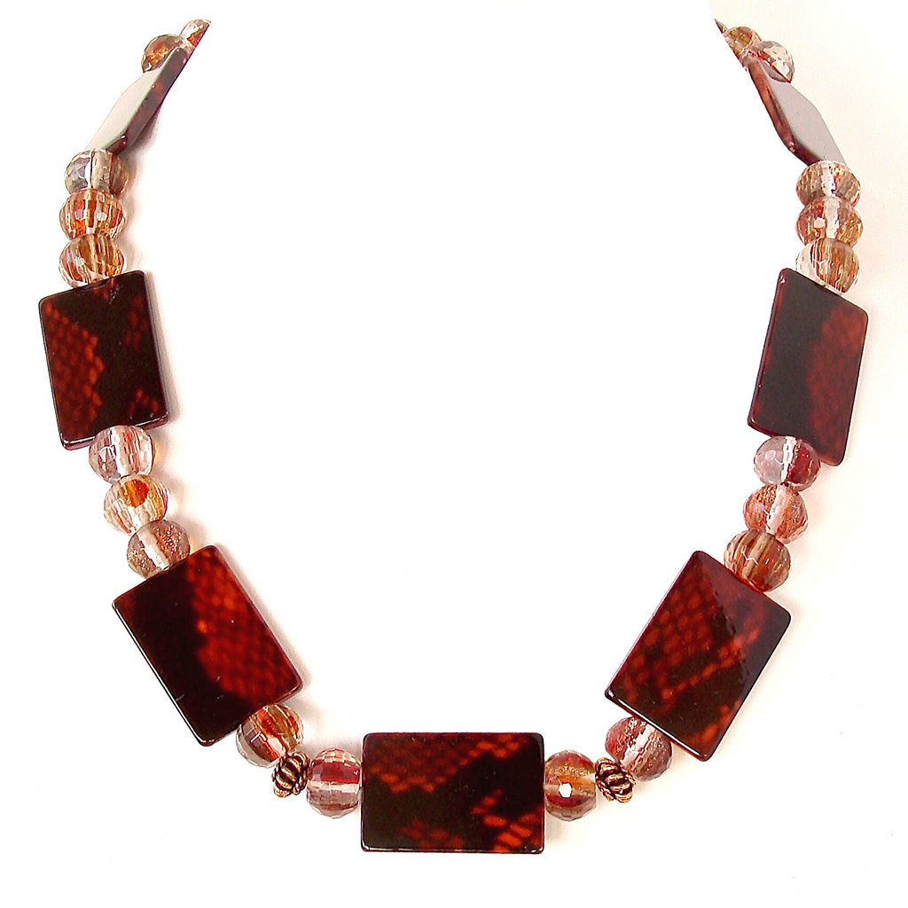 Red Snakeskin Necklace