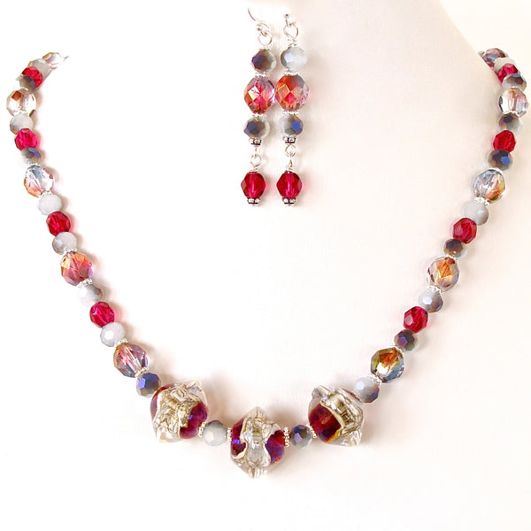 Red Velvet Necklace