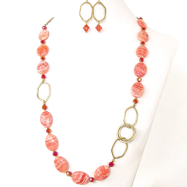 Rhodochrosite necklace