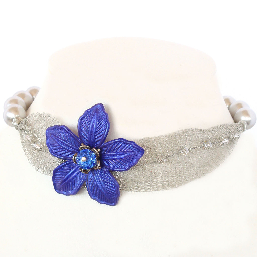 Royal Blue Choker Necklace