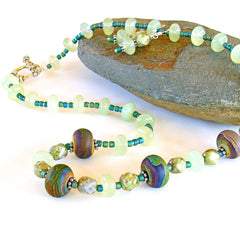 Seagreen Beaded Necklace