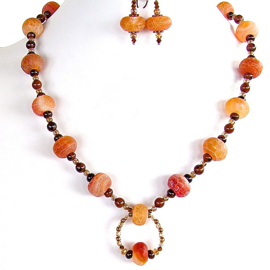 Semi-precious Jewelry in Orange