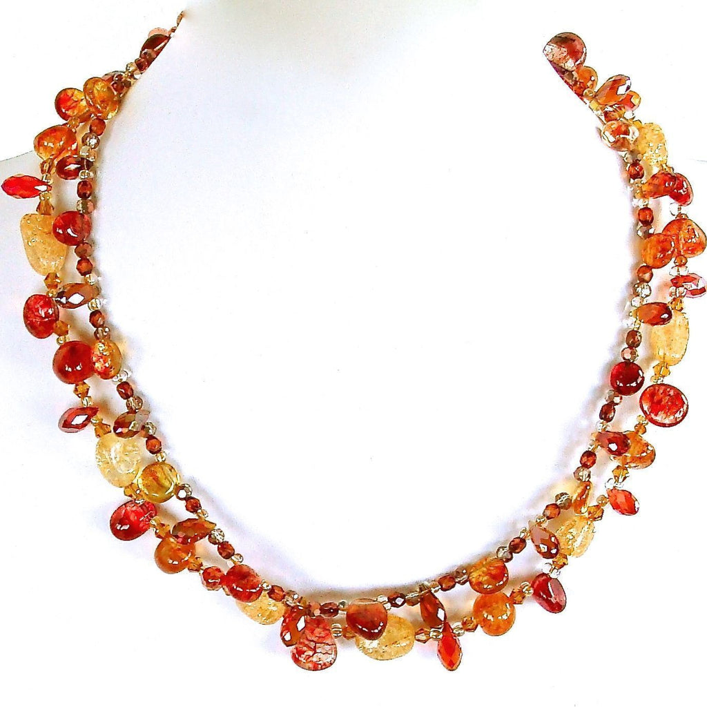 Semi-precious Orange Necklace