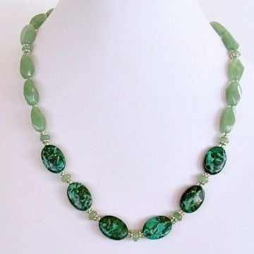Semi-precious green necklace