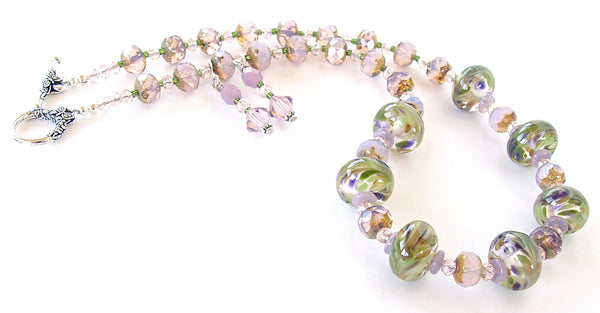 Muscari: Bead Necklace in Purples