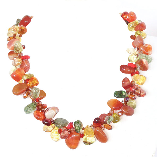 Statement Necklace in Fall Colors