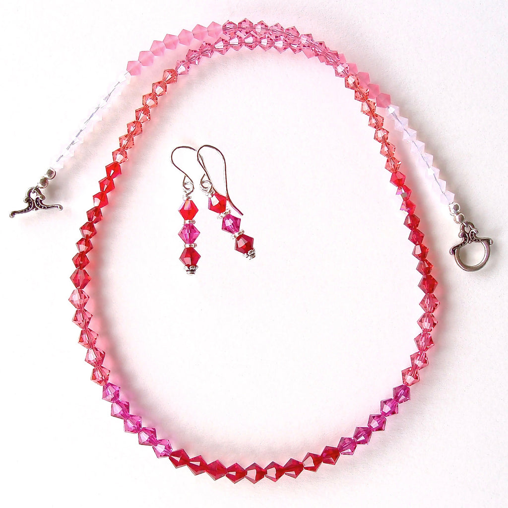 Swarovski Crystal Necklace with Color Ombre