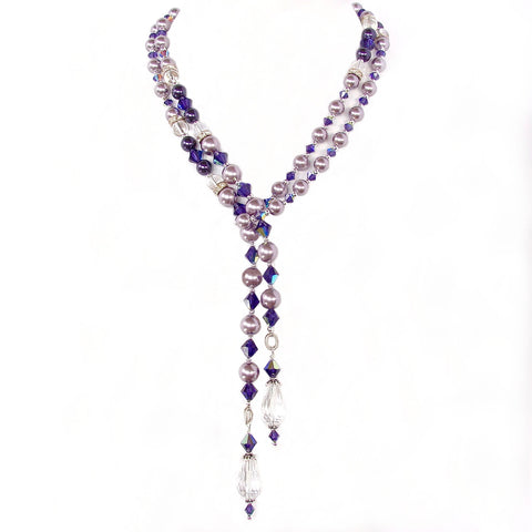 Swarovski crystal lariat necklace